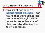 a compound sentence