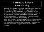 1 increasing political accountability