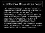 4 institutional restraints on power