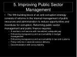 5 improving public sector management
