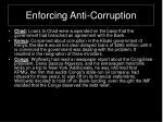 enforcing anti corruption