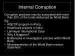 internal corruption