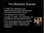 the wolfowitz scandal