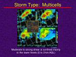 storm type multicells