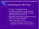 controlling the nile river