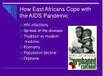 how east africans cope with the aids pandemic
