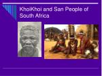 khoikhoi and san people of south africa