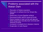 problems associated with the aswan dam