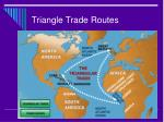 triangle trade routes