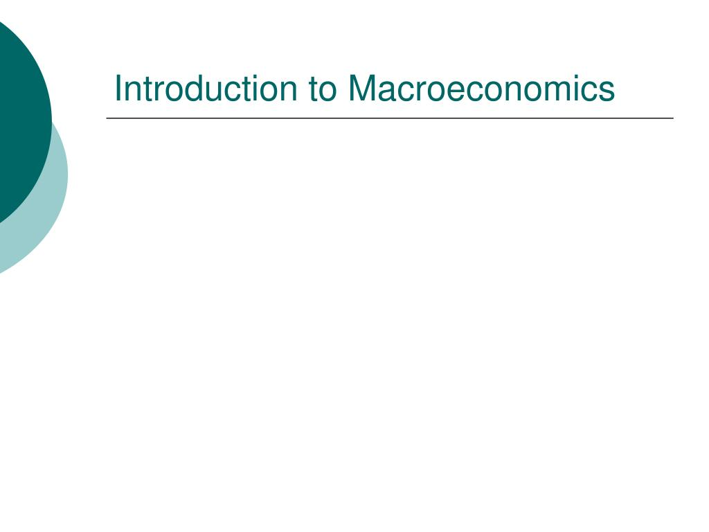 introduction to macroeconomics l.