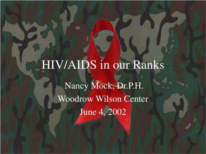 hiv aids in our ranks n.