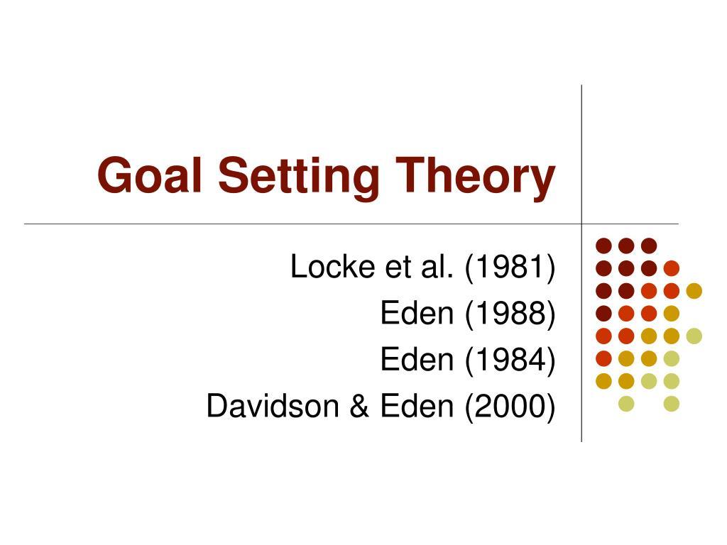 goal setting theory l.