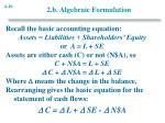 2 b algebraic formulation