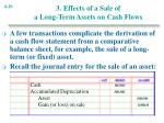 3 effects of a sale of a long term assets on cash flows