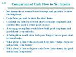 comparison of cash flow to net income