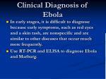 clinical diagnosis of ebola