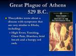 great plague of athens 529 b c