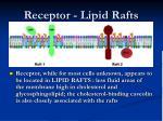 receptor lipid rafts