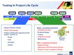 testing in project life cycle