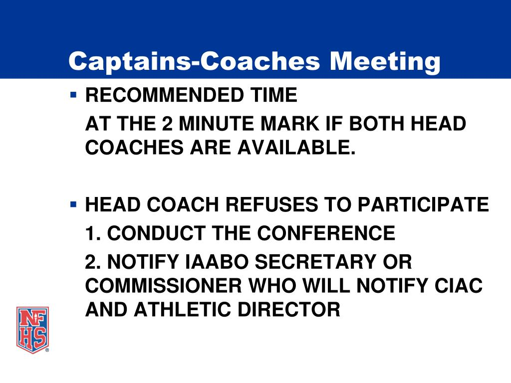 Captains-Coaches Meeting