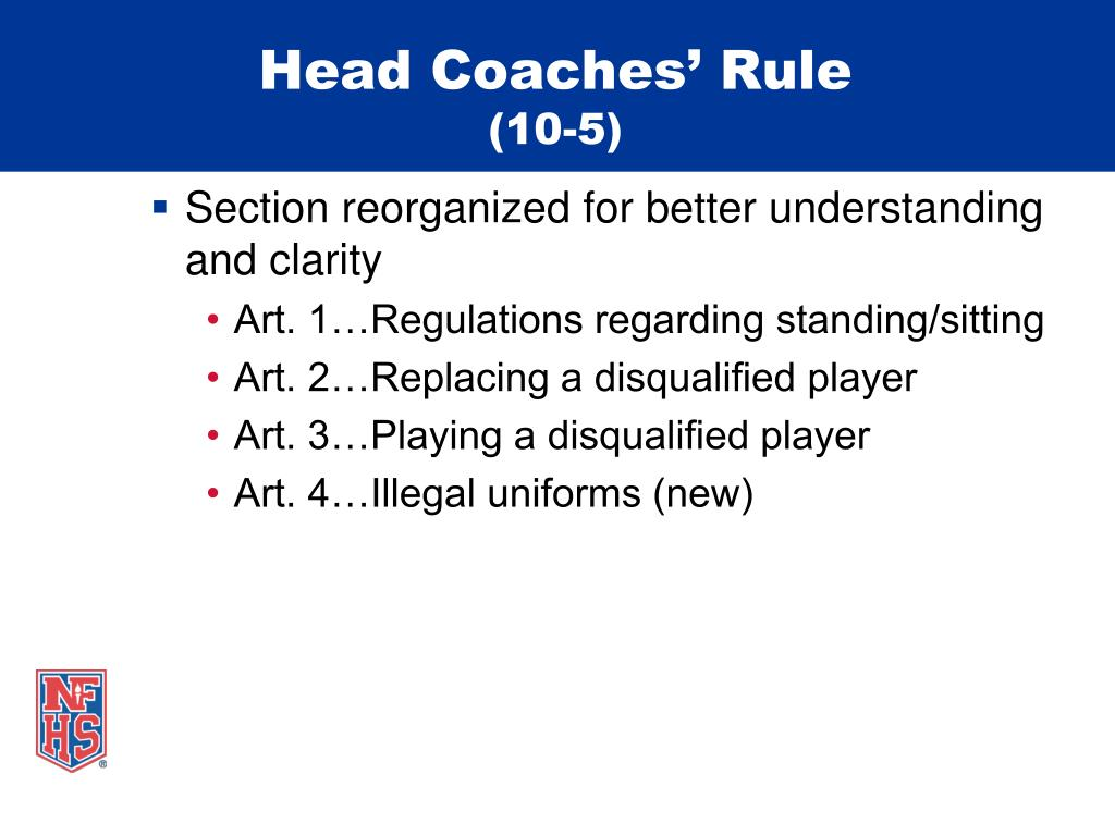 Head Coaches' Rule