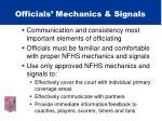 officials mechanics signals