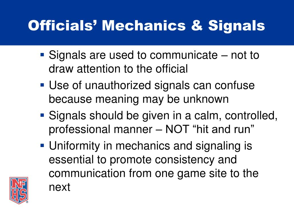 Officials' Mechanics & Signals