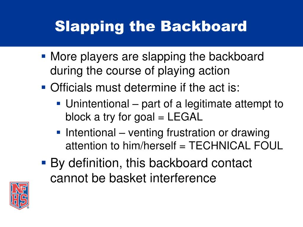 Slapping the Backboard
