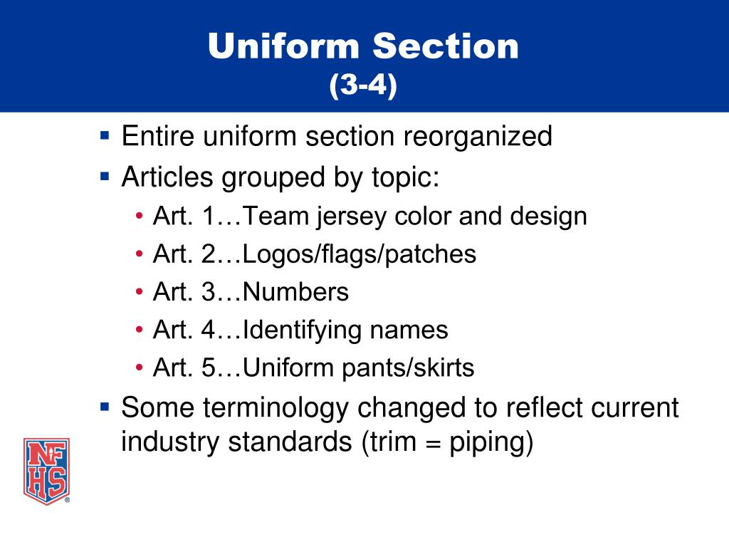 Uniform Section