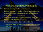 risk management philosophy