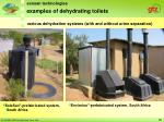 examples of dehydrating toilets28