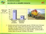 excreta are a valuable resource
