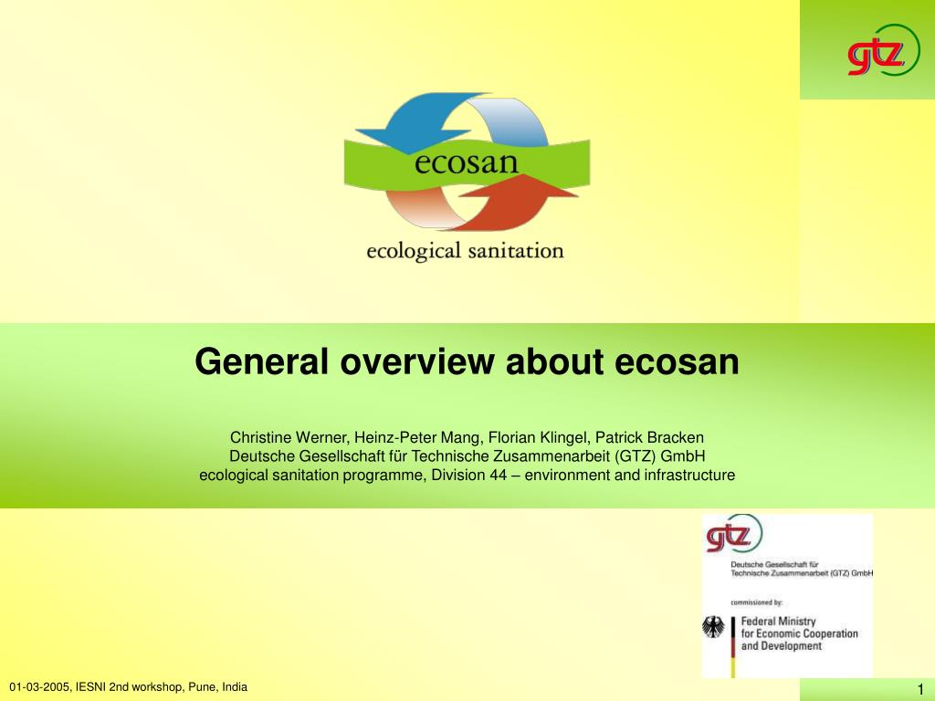 general overview about ecosan l.