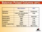 bateman pulsed columns bpc