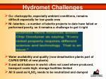 hydromet challenges