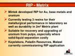 rip metrix