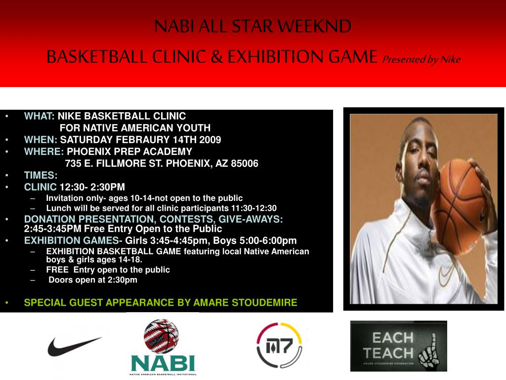 nabi all star weeknd basketball clinic exhibition game presented by nike l.