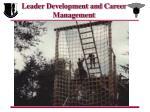 leader development and career management