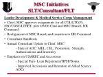 msc initiatives slt consultant flt5