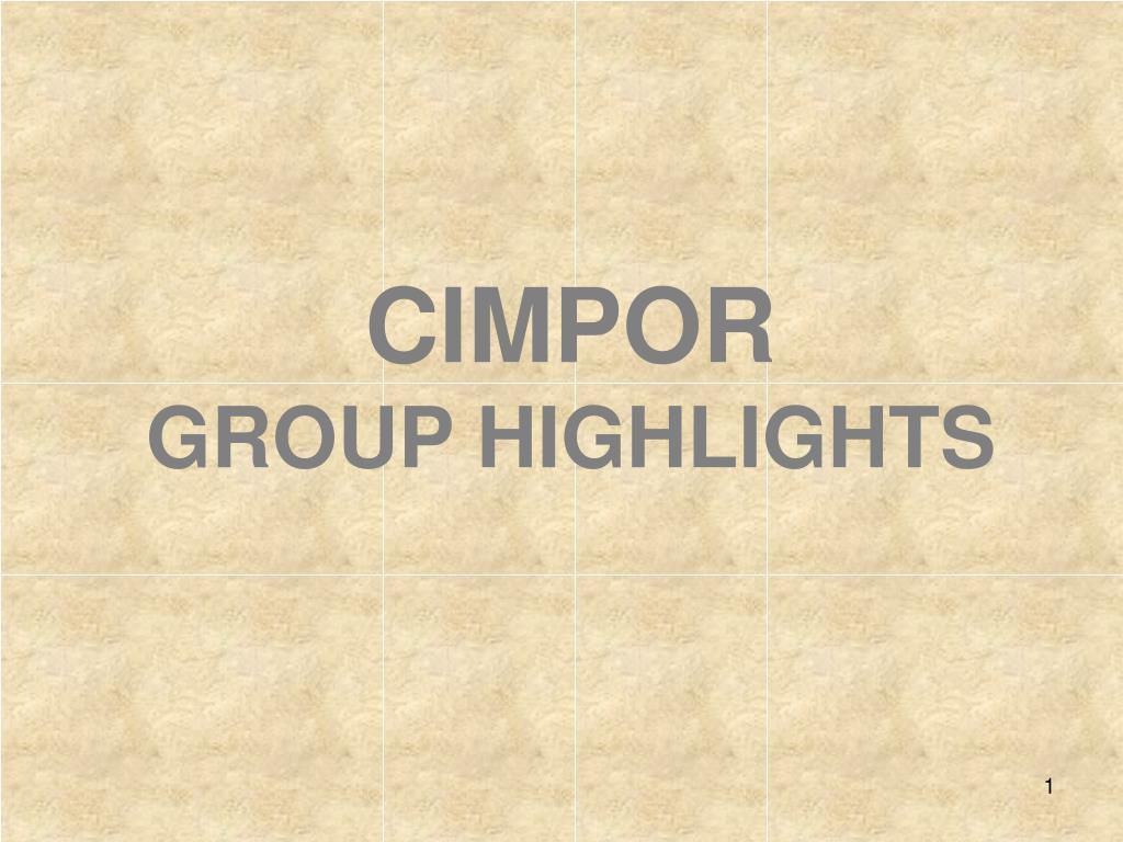 cimpor group highlights l.