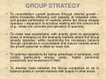 group strategy