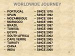 worldwide journey