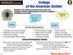 college of the american soldier