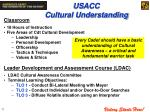 usacc cultural understanding