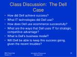 class discussion the dell case