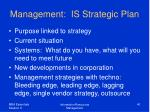 management is strategic plan