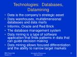 technologies databases datamining