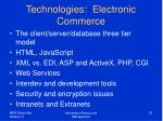 technologies electronic commerce