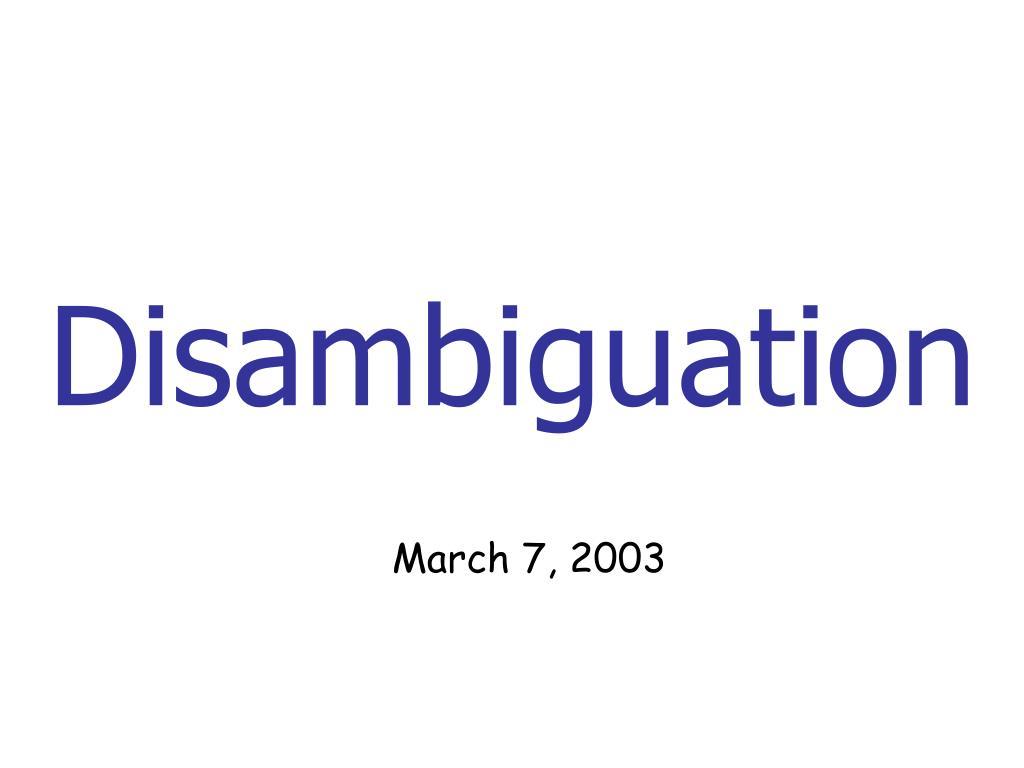 disambiguation l.