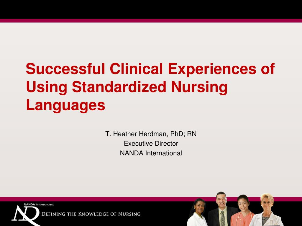 successful clinical experiences of using standardized nursing languages l.